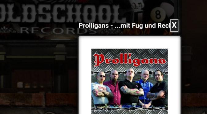 Ein Tonträger der Band Prolligans im Shop vom Oldschool Records (Screenshot)