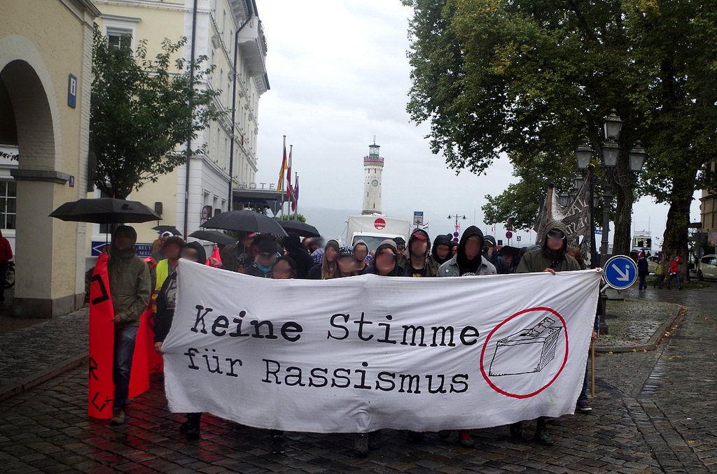 9.9.2017: Demo »Keine Stimme für Rassismus« in Lindau (© S. Lipp)