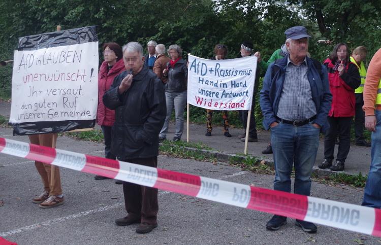 Protest gegen die AfD am 17.9.17 in Lauben ©S. Lipp