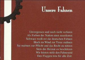 Auszug aus dem Booklet der Platte Blut, Schweiß und Tränen von Faustrecht.