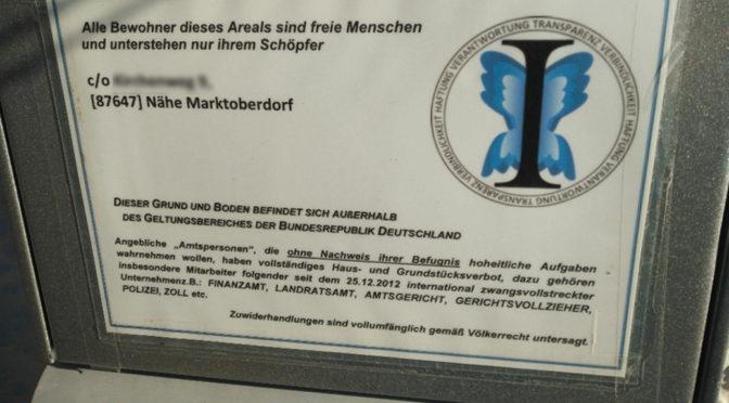 Schwaben Schwerpunkt der bayerischen Reichsbürgerszene