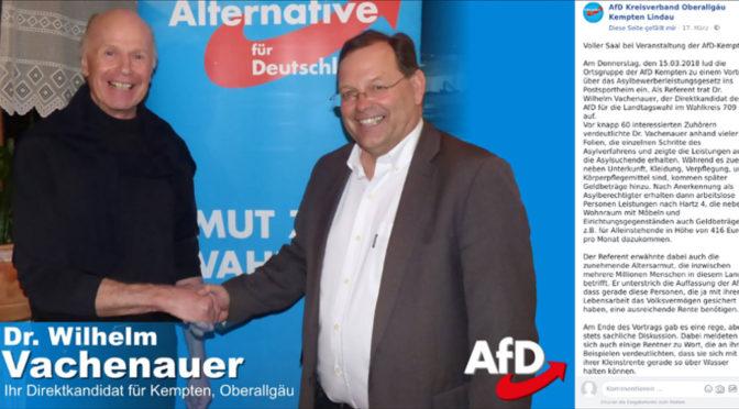 AfD-Landtagskandidat Vachenauer punktet mit sozialer Demagogie