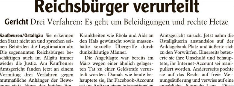 Sie erkennen den Staat nicht an und sprechen seinen Behörden die Legitimation ab: Die sogenannten Reichsbürger beschäftigen auch im Allgäu immer wieder die Justiz.