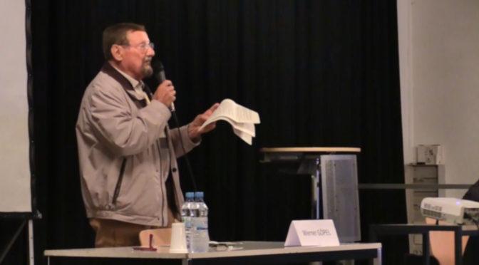 Moschee-Gegner Werner Göpel wettert gegen »den Islam« (Screenshot: Youtube/Wir sind Kaufbeuren)