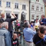 Protest gegen die Anti-Islam-Kundgebung von Michael Stürzenberger in Kaufbeuren.