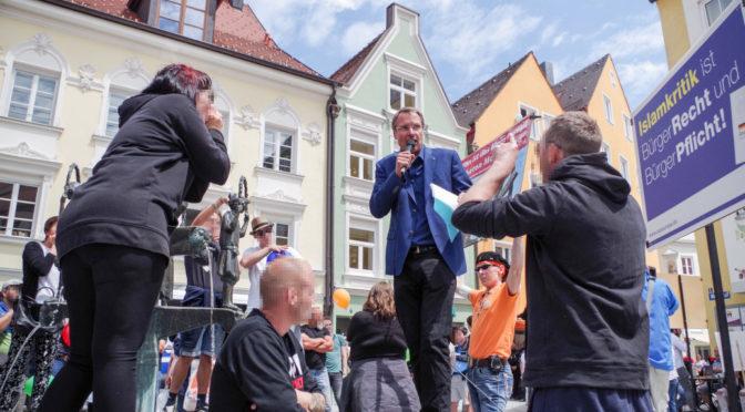Vielfältiger Protest gegen Islamhasser Michael Stürzenberger und die AfD am 24. Juni 2018 in Kaufbeuren.