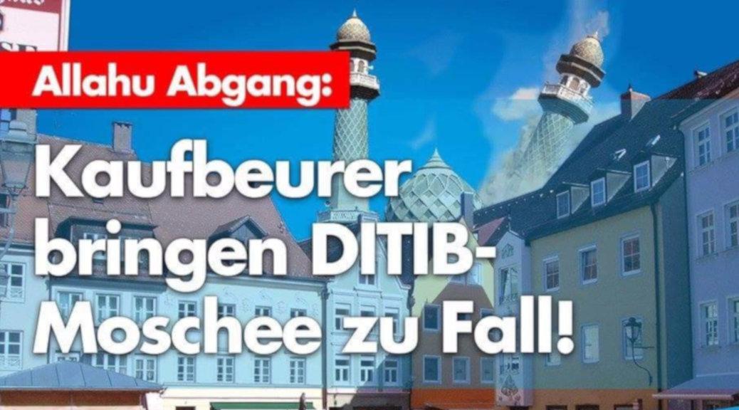 Schon Abend nach dem Bürgerentscheid legt der AfD Kreisverband Kaufbeuren Ostallgäu mit einem gehässigen Kommentar den sprichwörtlichen Finger in die Wunde. (Screenshot)