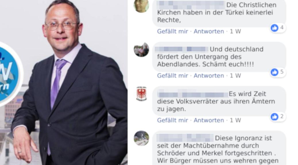 Nazivokabular und Widerstandsrhetorik bleibt beim Bundestags-Vize der AfD, Peter Felser,, auf Facebook unkommentiert stehen. (Screenshot)
