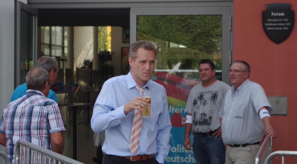 Am 23. Juli 2017 folgte der bayerische Landesschef Petr Bystron und der Bundesvorsitzende der AfD, Jörg Meuthen, einer Einladung der AfD Unterallgäu nach Mindelheim.