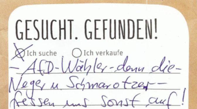 Rassistisches AfD-Pamphlet gegen Flüchtlingshelferin
