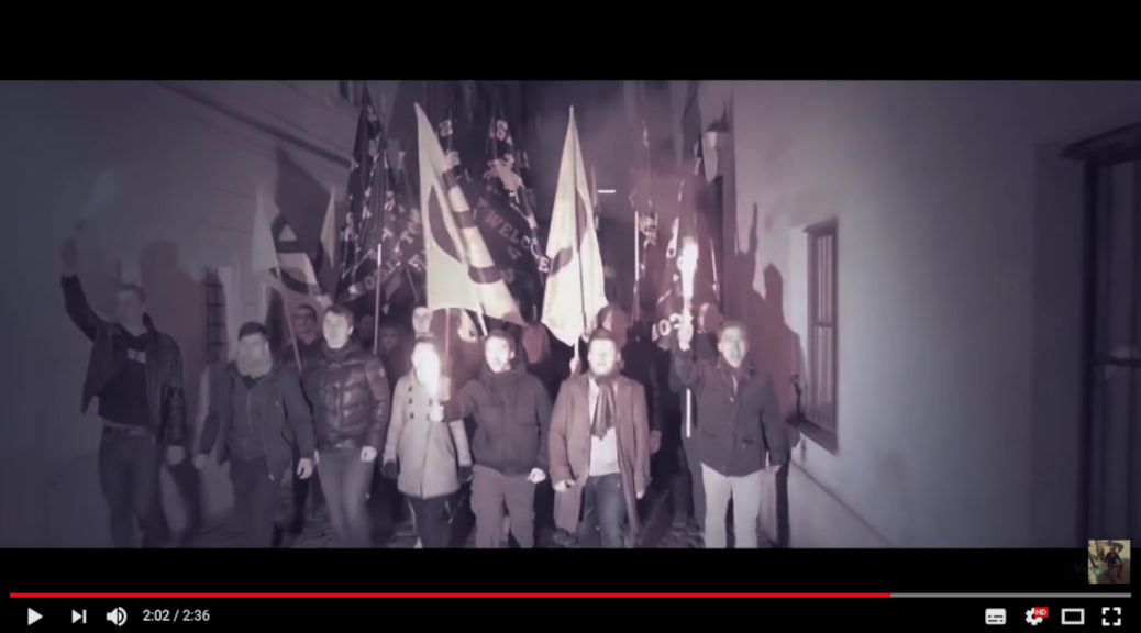 Eine Szene aus dem Musikvideo zu Defend Europe von Chris Ares. (Screenshot: Youtube)