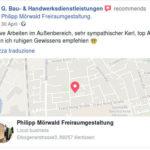 Der Geschäftsaccount des Neonazi Boris G. empfiehlt das Unternehmen von Philipp M.