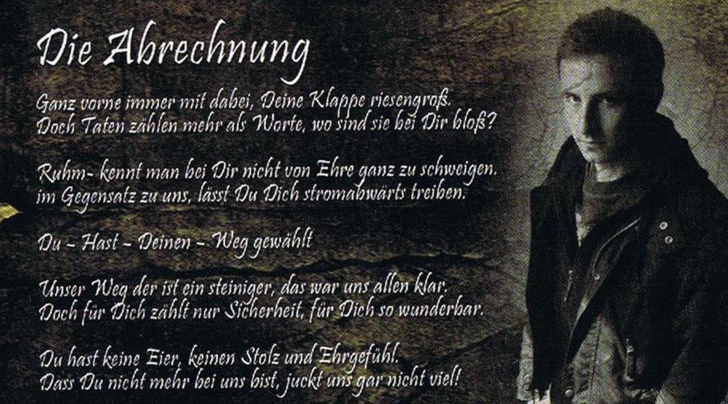 Schon in jungen Jahren war Philipp Mörwald in der Neonaziszene aktiv. Die Abbildung zeigt einen Ausschnitt aus einem Booklet der Band National Born Haters.