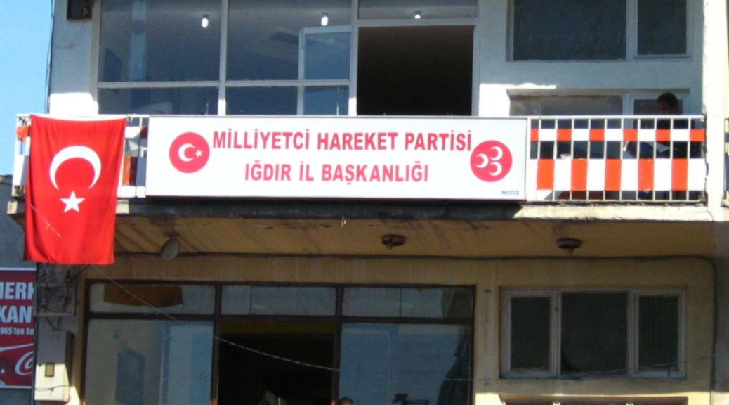 Ein Büro der MHP in Igdir in der Türkei.