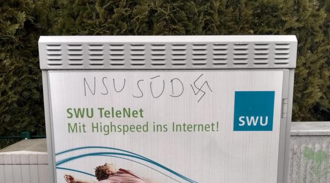 »NSU SÜD« in Neu-Ulm geschmiert