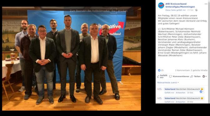 AfD Unterallgäu wählt neuen Kreisvorstand
