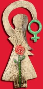 Arbeitsgemeinschaft Sozialdemokratischer Frauen verleiht ihre ASF-Rose für besondere Dienste um die Gleichstellung am Internationalen Frauentag 2019 an Kristina Hänel und Friedrich Stapf. (Bild: SPD Ostallgäu)
