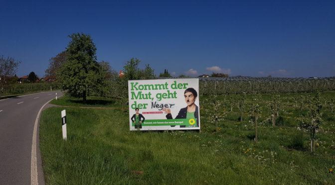 Plakate der Grünen für rassistische Propaganda missbraucht