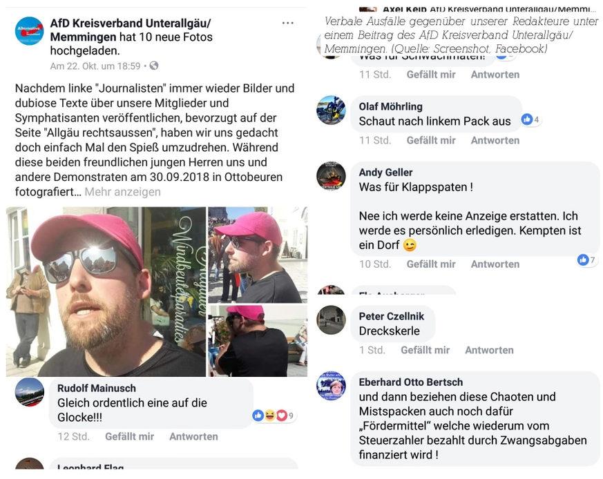 Ausschließen, verklagen, einschüchtern, Bedrohen: So reagiert die AfD und andere Rechte auf die Arbeit von Allgäu rechtsaußen.