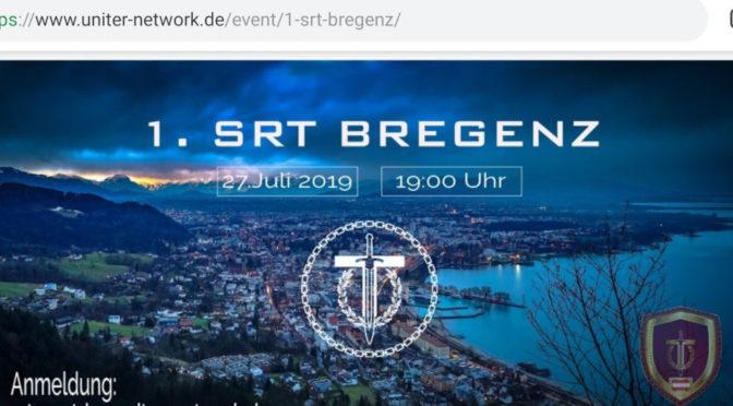 Uniter bewirbt den »1. SRT Bregenz« am 27. Juli 2019. (Screenshot)