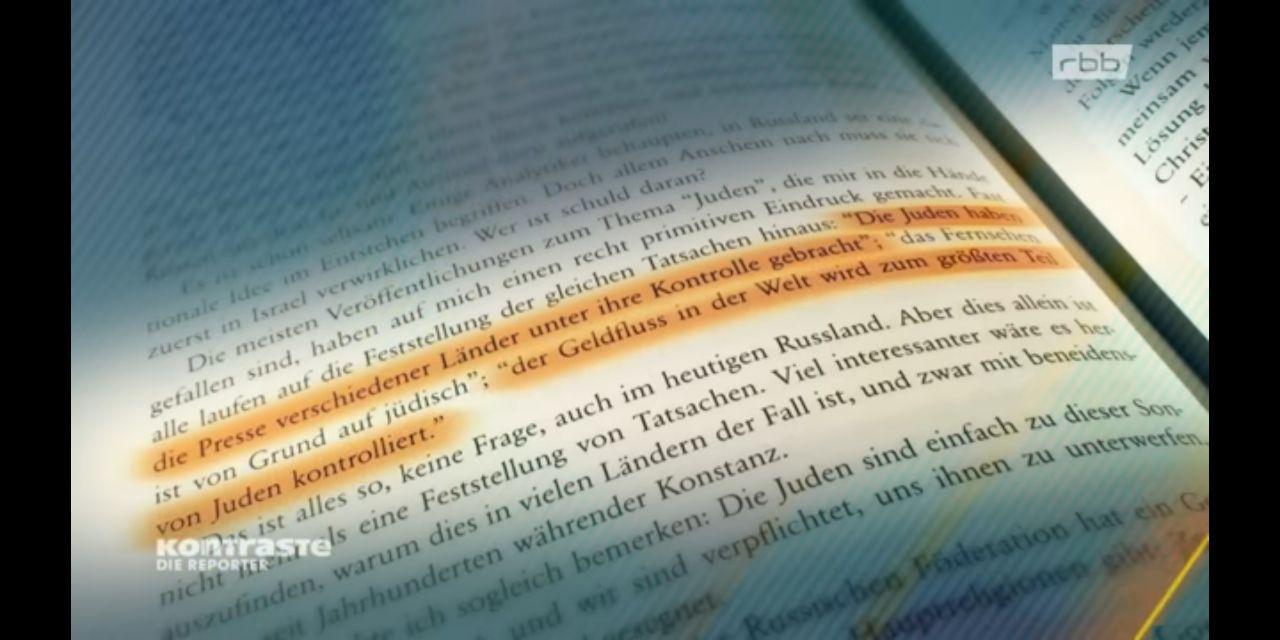 Die Anastasia-Bücher verbreiten auch antisemitische Weltverschwörungsthesen. (Screenshot Kontraste)