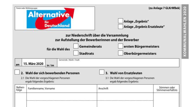 Personalnot vor der Kommunalwahl zwingt AfD im Allgäu zum Spagat