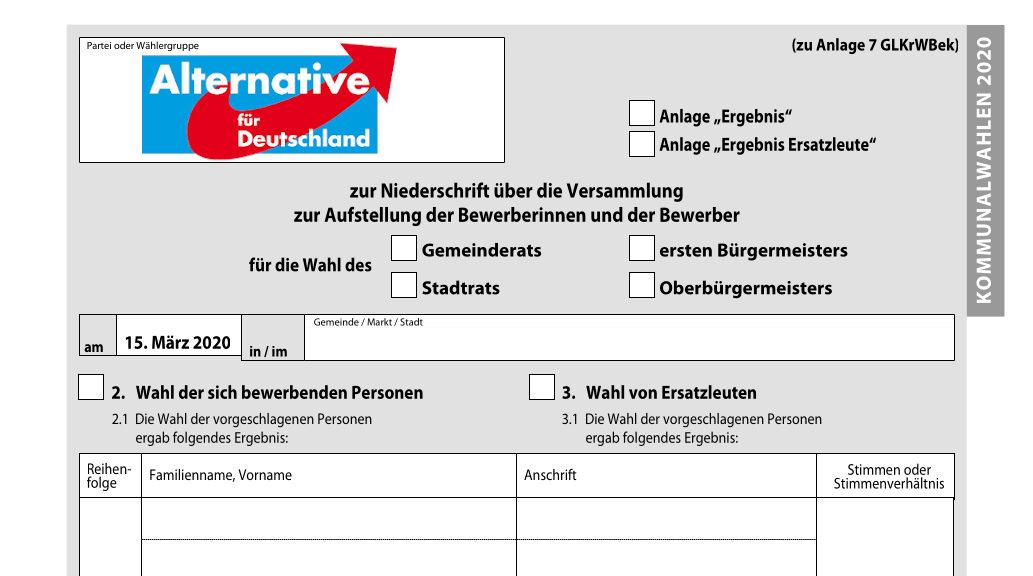 Wo wird die AfD Listen zur Kommunalwahl aufstellen oder ihre Bewerber in andren Listen unterbringen können? Ein neuralgischer Punkt - für Partei und Gesellschaft.