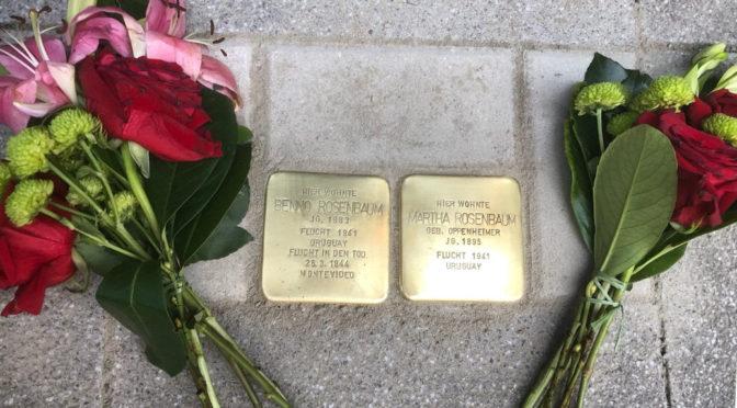 Stolpersteine im Gedenken an Martha und Benno Rosenbaum