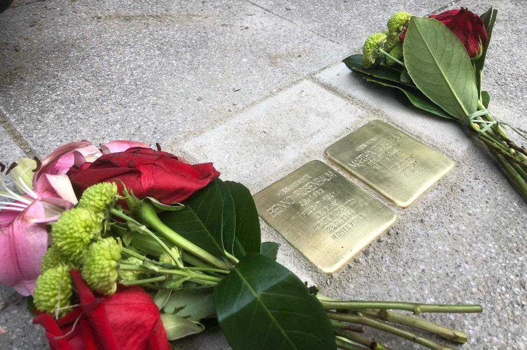 Zur Erinnerung an Benno und Martha Rosenbaum verlegt Gunter Demnig am 29. Dezember 2019 Stolpersteine in der Kalchstraße 11.