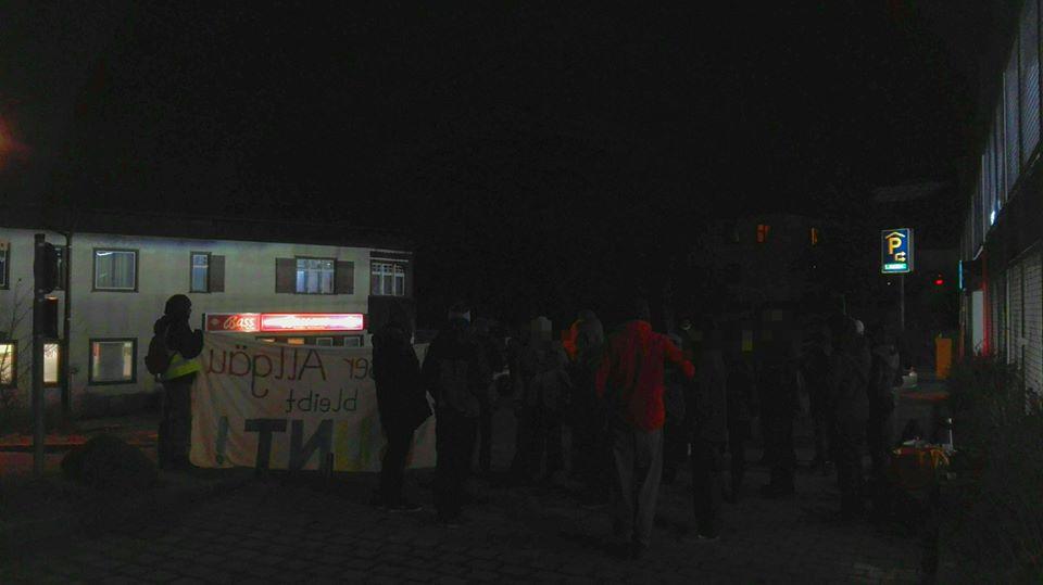 Am 14.01. protestierten erneut vieler Oberstaufner*innen gemeinsam mit KSFR gegen ein AfD Treffen im Bassano