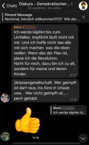 Mark Z. plant im Falle einer Impfpflicht die Revolution und erntet dafür Zustimmung.