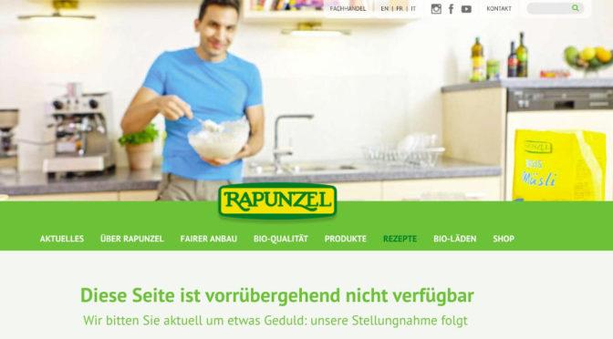 Rapunzel trennt sich vom Marketing mit Attila Hildmann
