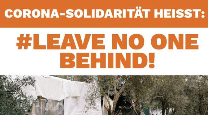 Solidarität gegen Abschottung, Angstmacherei & Ausgrenzung