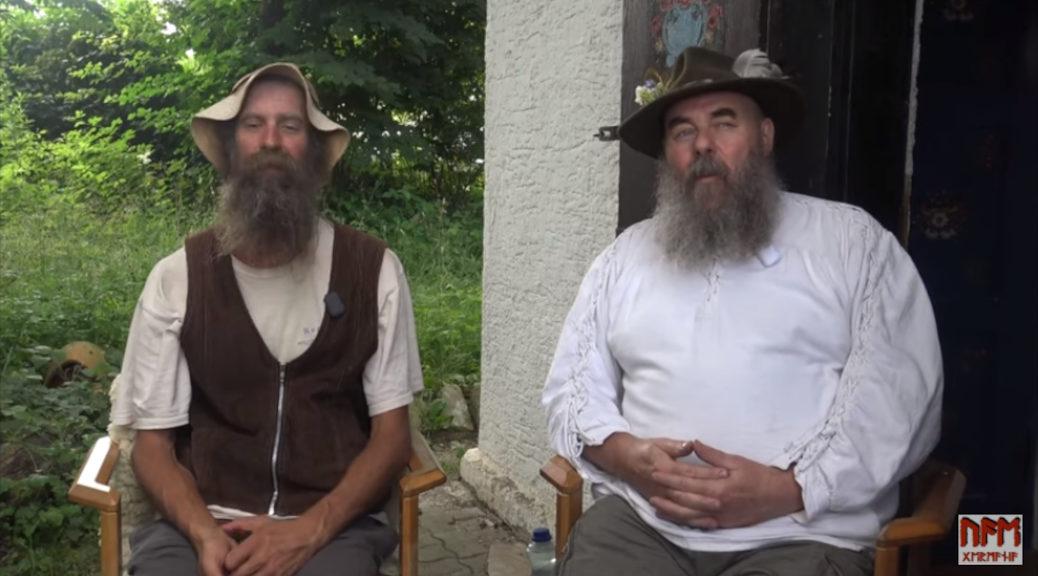Im Video unterhalten sich Robert Briechle und der Neonazi Frank Willy Ludwig über den Mutterhof, die Berichterstattung über ihre Aktivitäten und »due Verantwortung der weißen Rasse«. (Screenshot Youtube)