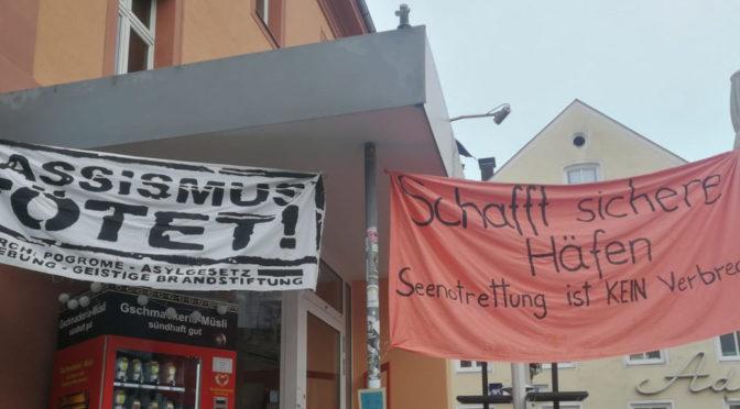 Zeichen der Solidarität zerstört