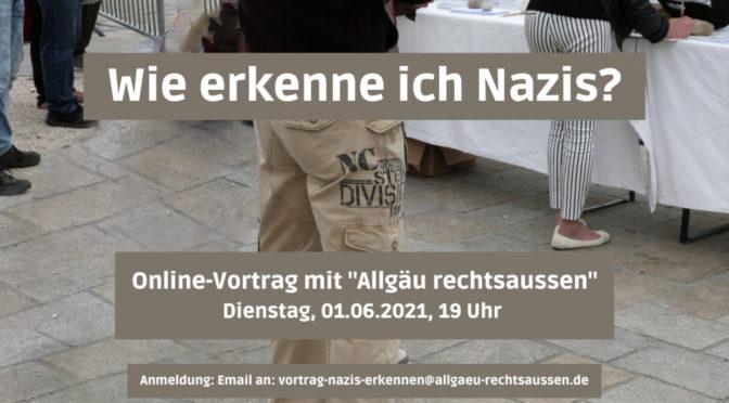 Online-Vortrag: Wie erkenne ich Nazis?