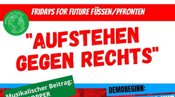 Fridays for Future steht auf gegen Rechts in Füssen