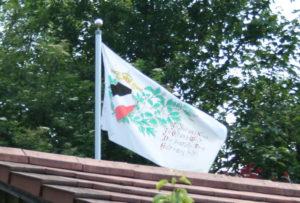 Im Schrebergarten in Wangen schwört man dem Deutschen Reich die Treue.