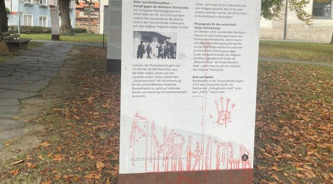 Ausstellung über NS-Opfer mehrfach in einer Nacht angegriffen